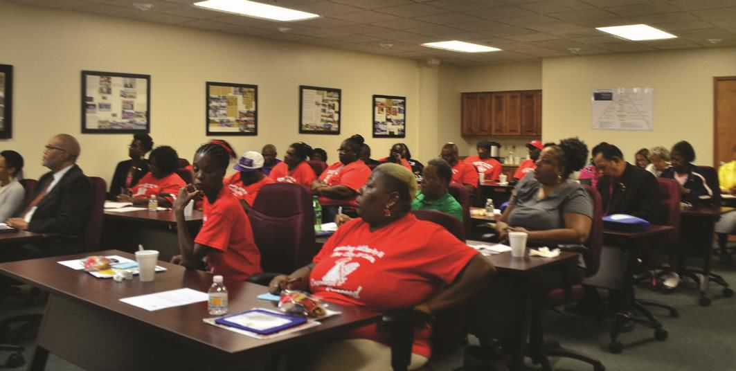 The Community Access and Empowerment Workshop, held Friday at the the Albany Housing Authority, drew a large crowd. Speakers and session leaders offered information on a variety of topics and resources of interest to low-and moderate-income residents. Photo Courtesy of Albany Herald.