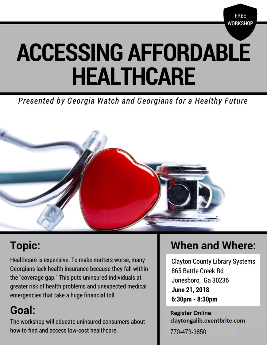Affordable Healthcare_Clayton County Flyer